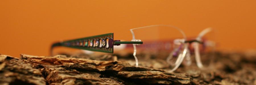Ručně vybrušované brýle s kreativním vlnkovitým výbrusem (RYBIČKA)