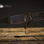 Kovové dioptrické brýle s upevněním čoček silonem