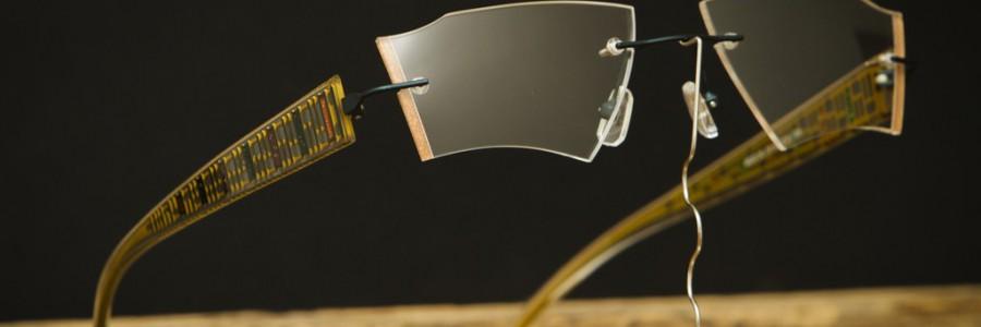 """Vrtané ručně vybrušované brýle """"OLINA""""  s citlivým podbarvením stranového výbrusu"""