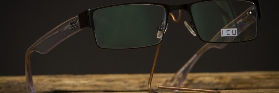 Dioptrické kovové brýle ICU s plastovými stranicemi
